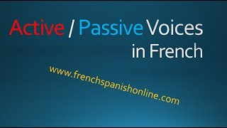 Active vs Passive voices in French