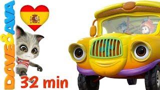 🚌 Las Ruedas del Autobús | Canciones Infantiles y Canciones para Bebés de Dave y Ava 🚌