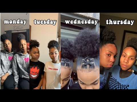 WEARING DIFFERENT NATURAL HAIRSTYLES FOR A WEEK || twin edition