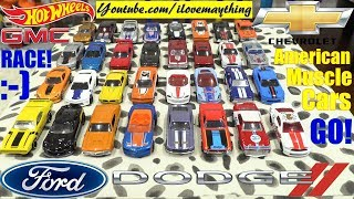 Diecast Toy Cars, HOT WHEELS Racing AMERICAN CARS Edition. Family Toy Racing Race #36