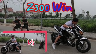 Z300 Kéo Co Với Z1000 | Sức Mạnh Của Z300 và Z1000.