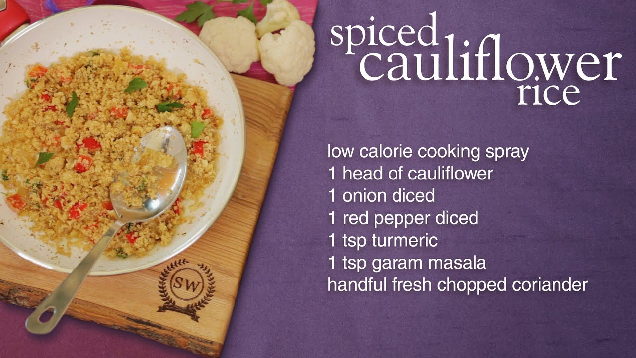 Slimming World Spiced Cauliflower Rice Recipe