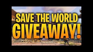 Ps4/PC Giveaway Fortnite Save The World Giveaway
