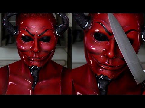 Scream Queens Red Devil Makeup Tutorial   Jordan Hanz