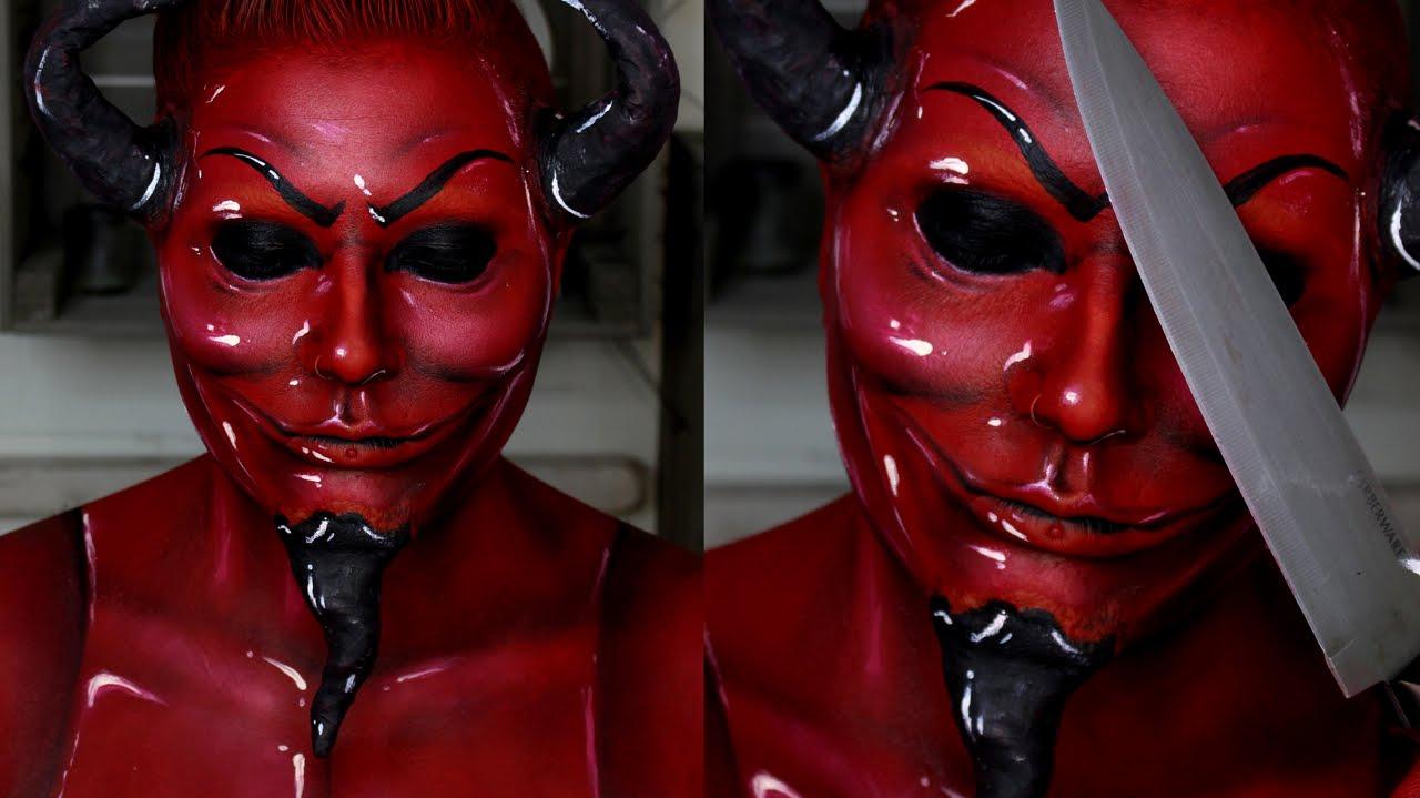 Scream Queens Red Devil Makeup Tutorial | Jordan Hanz - YouTube