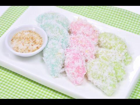 Mung Bean Rice Crape (Thai Dessert) – Kanom Tua Pap ขนมถั่วแปบ