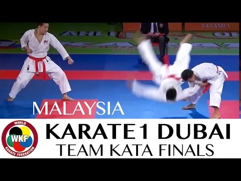 MALAYSIA. Final Male Team Kata. Karate1 Premier League Dubai 2016