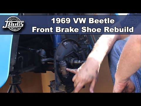 JBugs - 1969 VW Beetle - Front Brake Shoe Rebuild