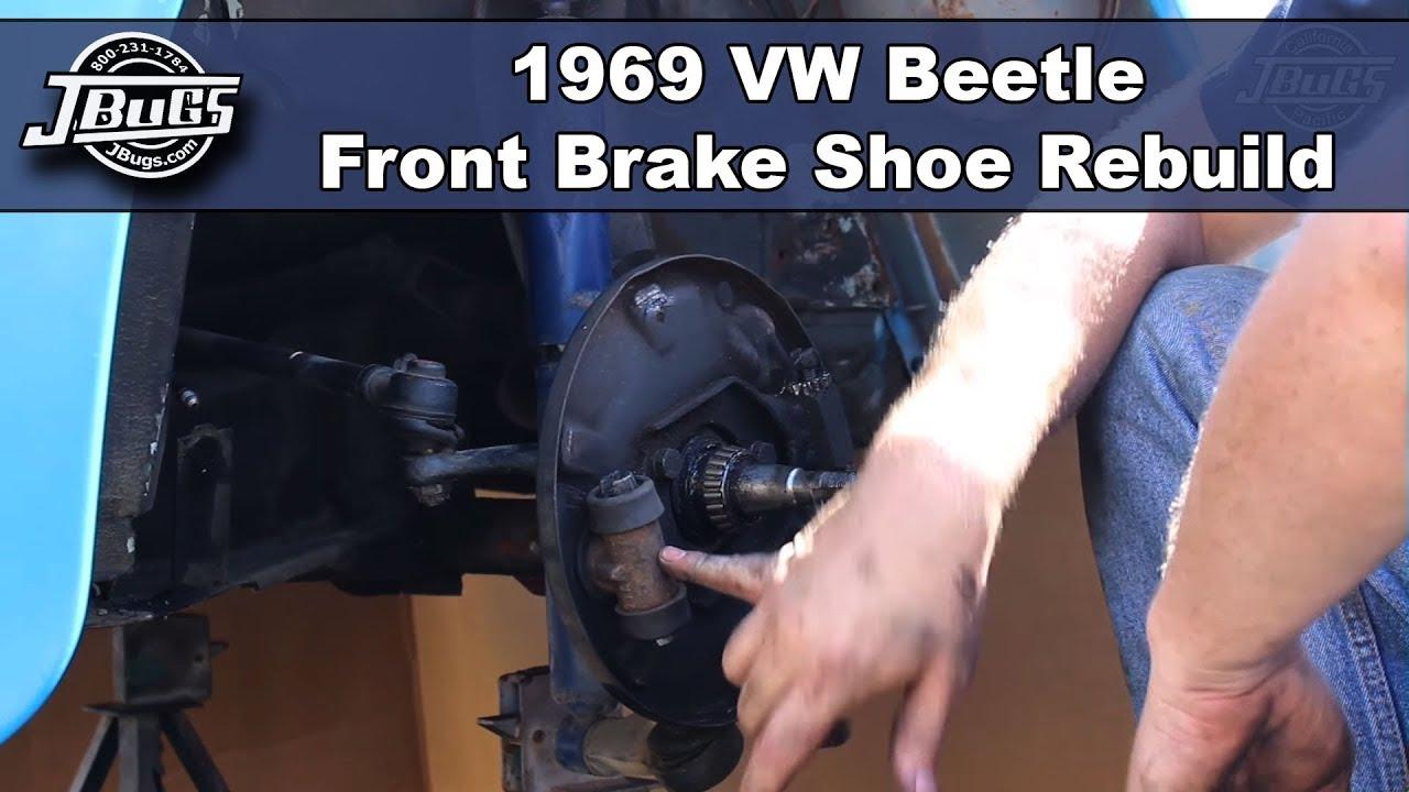 Jbugs 1969 Vw Beetle Front Brake Shoe Rebuild Youtube Suspension Diagram On Volkswagen New Engine