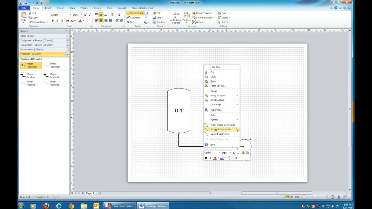 Microsoft Visio for Process Diagrams - YouTube