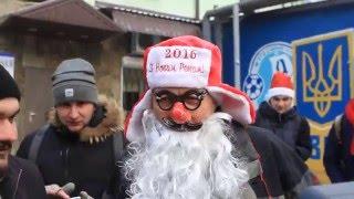Голые Деды Морозы пробежались по Днепропетровску
