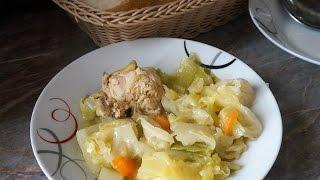 Молодая капуста тушёная с курицей.Сербская кухня/Слатки купус/Cabbage with chicken