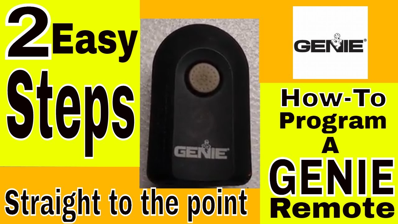 Genie garage door remote programming 2 easy steps youtube genie garage door remote programming 2 easy steps rubansaba