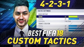 FIFA 18 BEST FORMATIONS 4-2-3-1 TUTORIAL - BEST CUSTOM TACTICS & INSTRUCTIONS / HOW TO PLAY 4-2-3-1