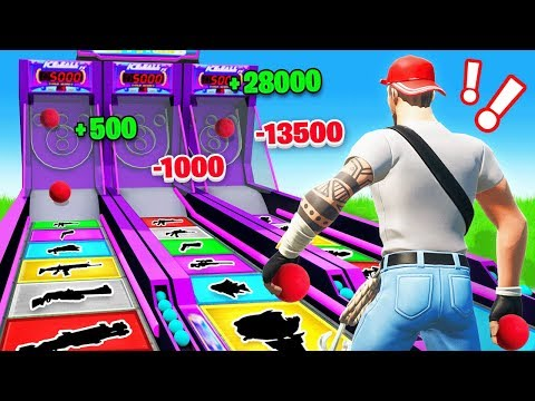 SKEE BALL In Fortnite FOR LOOT