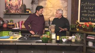 Chef Claud Beltran Makes Lebanese Fattoush Salad With Grilled Chicken And Tahini Sauce