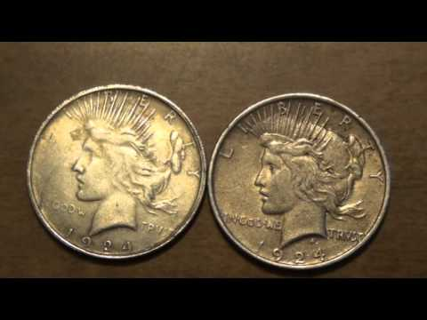 Comparing Fake And Real Silver Dollars