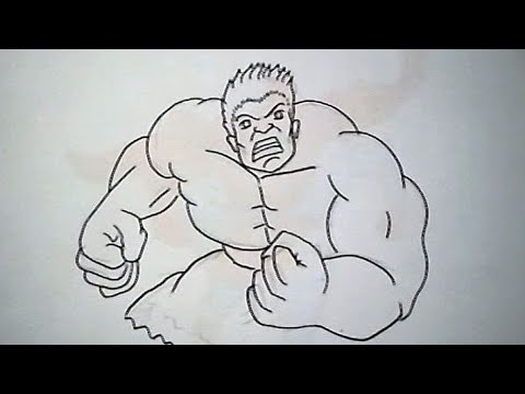 Cara Menggambar Hulk How To Draw Hulk Youtube