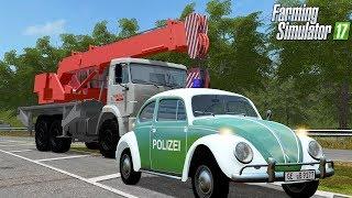 LS17 - Oldtimer Polizei Einsatz auf der Autobahn von Bauhof Weber!