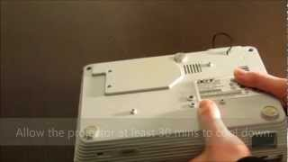 Replacing a projector's lamp. Acer H5350