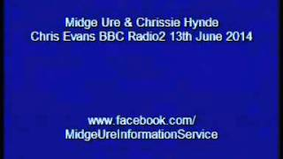 Midge Ure - Chris Evans BBC Radio2 13th June 2014 ( Part 2 of 2 )