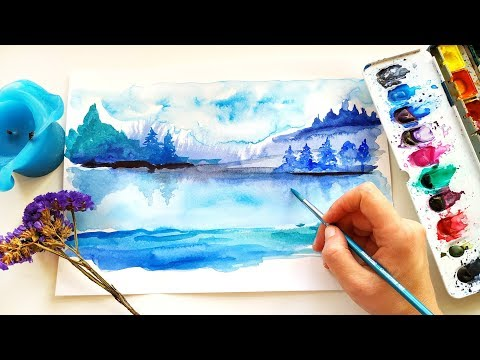 Watercolor Abstract Landscape Painting For Modern Wall Decor – Tutorial For Beginners