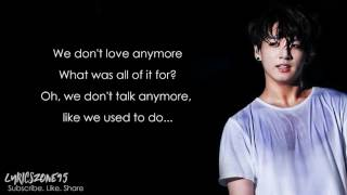 BTS Jungkook - We Don't Talk Anymore / Cover [Lyrics]