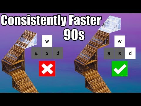 How to make your 90s Faster Consistently (Multi-Directional Movement) - Fortnite Battle Royale