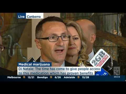 Richard Di Natale announces bill on medicinal cannabis