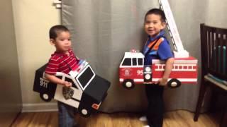 Halloween Costume DIY - Fireman Policeman