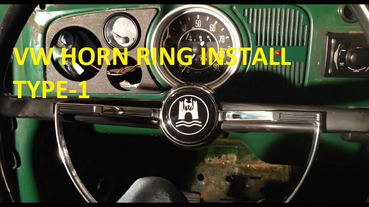 maxresdefault vw aircooled horn ring install youtube  at crackthecode.co