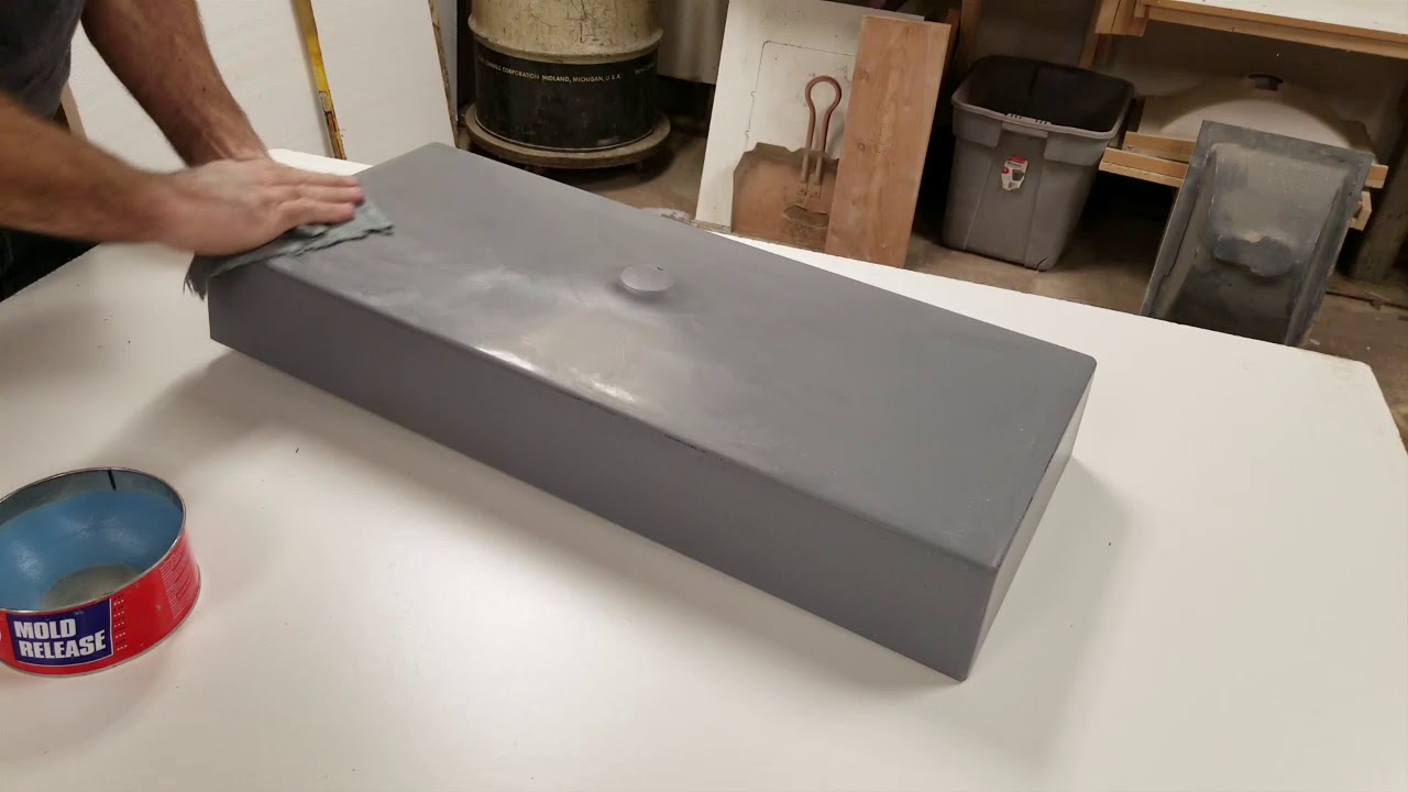 Release Wax For A Crete Molds Concrete Countertop Sink Mold Youtube