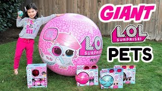 GIANT LOL SURPRISE PETS BALL! Series 4 Wave 2 L.O.L. Eye Spy Pets Biggie Pets Supreme Pet #PetsofLOL