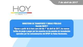 Hoy en el Diario Oficial 7 de abril 2017