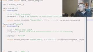 Flask Web Development in Python - 4 - HTML Logic