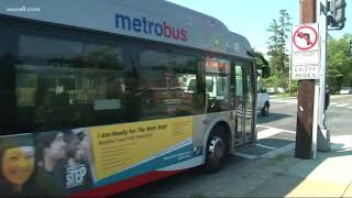Woman fights Metro after bus smashes her car