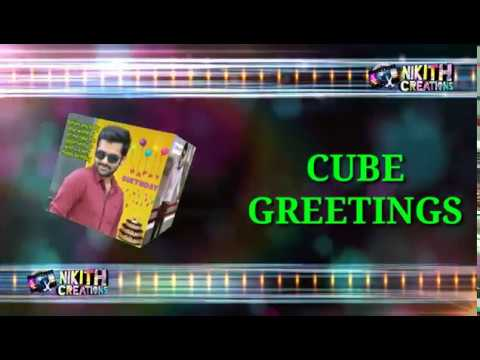 cube box greeting card | 6 sides different photos | photo greeting card | Greeting for all occasions