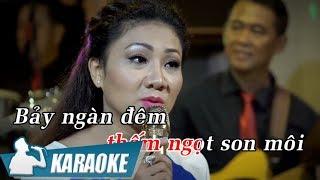 Karaoke Bảy Ngàn Đêm Góp Lại (Tone Nữ) - Thúy Hà | Nhạc Vàng Bolero Karaoke