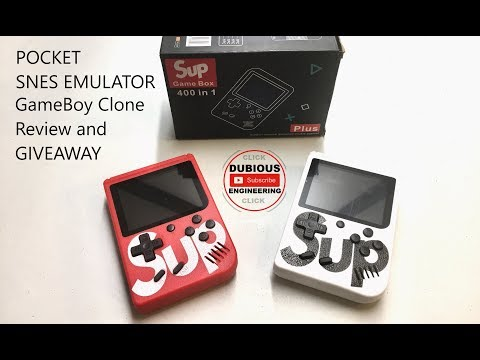 513606364d252 DuB-EnG  GIVEAWAY Handheld Console SUP Game Box 400 in 1 Plus Unbox Review  Tear-down Retro FC Console 8 Bit   SBCGaming
