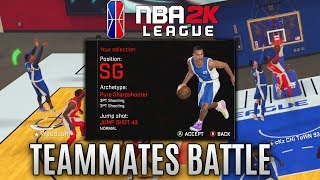 Battling My TEAMMATE In The 2KLeague Combine! NBA 2K18 Pro Am Gameplay