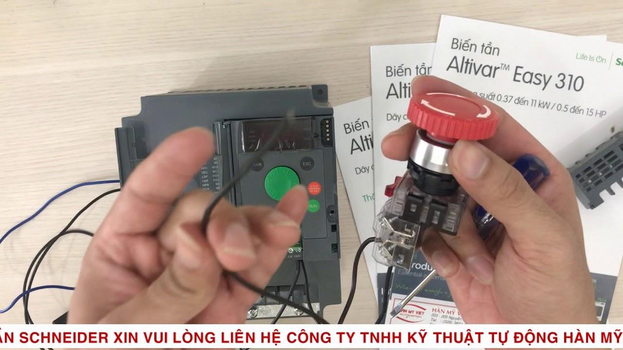 Hướng dẫn cài đặt biến tần Schneider ATV 310 điều khiển 3 dây - HÀN