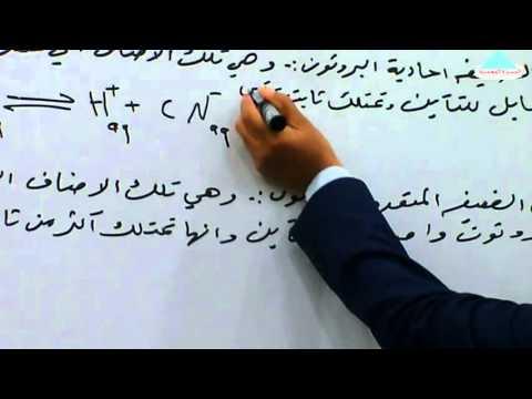 الاتزان الايوني/ الدرس الثاني / الاستاذ احمد محسن النجار