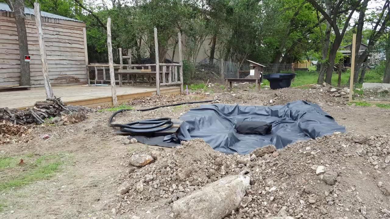 cosmic coffee and beer garden pond build youtube