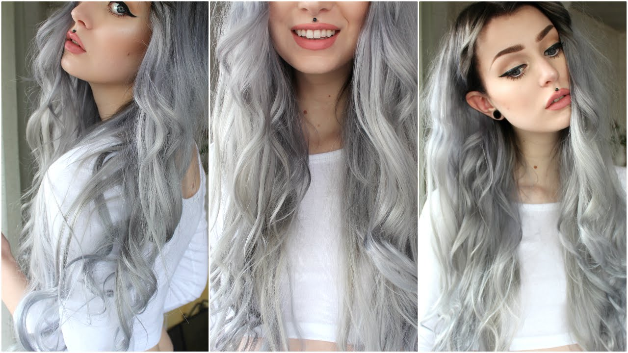 How To Dark Grey Silver Black Roots Evelina Forsell Youtube