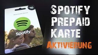 Spotify Prepaidkarte aktivieren [Spotify Premium]