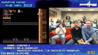 Contra III: The Alien Wars - 2 Guys 1 controller SPEED RUN in 0:32:37 Live at AGDQ 2013 [Super NES]