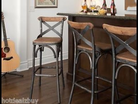 Rustic Bar Stool With Back Youtube