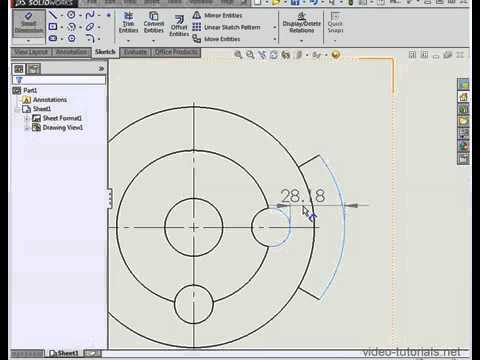Solidworks 2014 Tutorials Dimensioning Points Of The Arc Whats