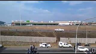 Crime scene after robbery at OR Tambo Airport