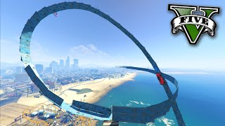 GTA V Online: LOOP+WALLRIDE AZUL HARD! - Corrida INSANA #572
